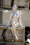 "Mely - ""Terminatrix"" - Bodypainting-Fotoshooting"