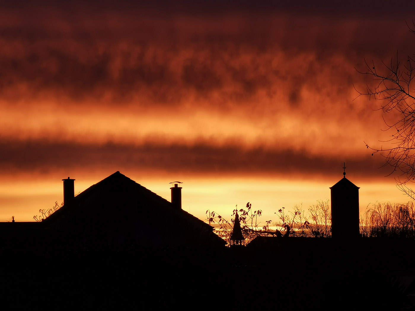 Morgenrot in St. Leon-Rot